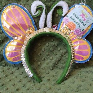 Handmade Mother of Pearl Fairy Headband Butterfly